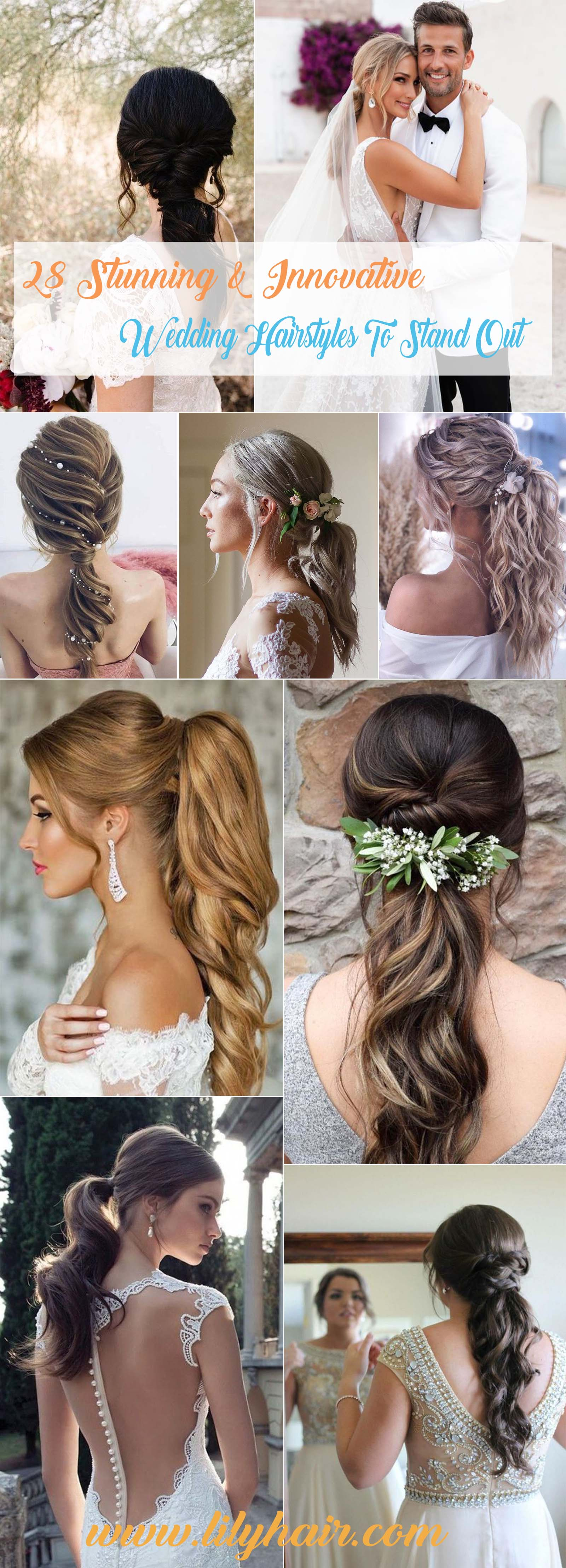 twisted and braided ponytails for bridal hairstyles