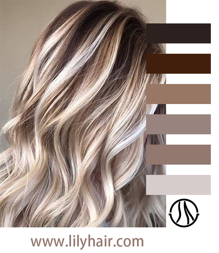 Platinum and Brunettes Ombre