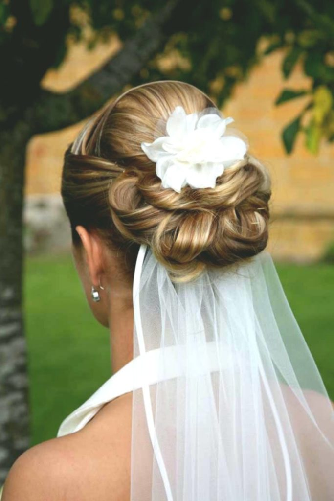 Dignified Chignon with Veil