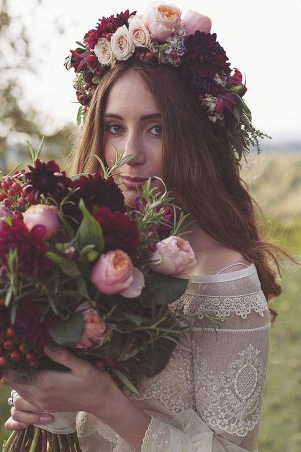 Top 50+ Bridal Hair Crown Wreath Ideas in Spring Wedding 2020